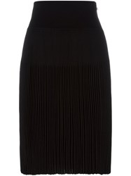 Givenchy Knee Length Pleated Skirt Black
