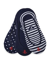 Sperry Three Pack Shoe Liners Navy