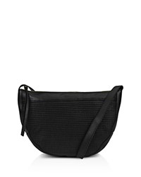 Kooba Curacao Leather Shoulder Bag Black Gunmetal
