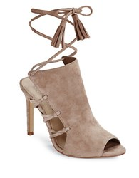 424 Fifth Fran Lace Up Sandals Taupe