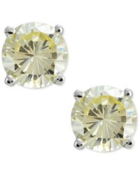 Giani Bernini Canary Yellow Cubic Zirconia Round Stud Earrings In Sterling Silver Only At Macy's