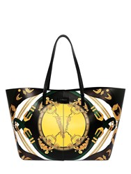 Versace Printed Leather Tote Bag Green