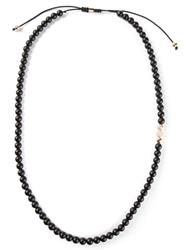 Shamballa Jewels Diamond Detail Beaded Necklace Brown