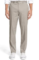 Men's Bensol Washed Trim Fit Stretch Cotton Trousers Med Grey
