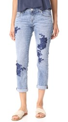 True Religion Cameron Slim Boyfriend Jeans Aquarius Blues