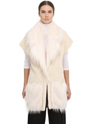 Space Style Concept Plush Knit And Kidassia Fur Vest
