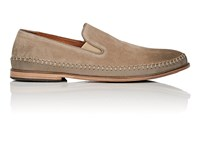 John Varvatos Amalfi Suede And Leather Venetian Loafers Lt.Brown
