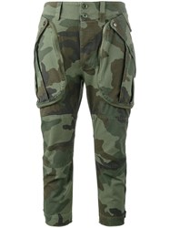 Faith Connexion Camouflage Cargo Trousers Green
