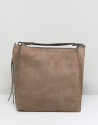 Allsaints Cooper Slouchy Backpack Gray