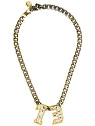 Lanvin Swarovski Pendant Necklace