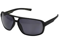 Von Zipper Decco Polarized Black Smoke Satin Vintage Grey Wildlife Polarized Lens Sport Sunglasses