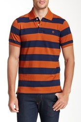 Timberland Rugby Stripe Polo Brown