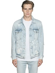 Calvin Klein Jeans Destroyed And Bleached Cotton Denim Jacket