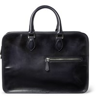 Berluti Un Jour Burnished Leather Briefcase Blue