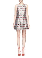 Alice Olivia 'Lindsey' Mixed Lipstick Print A Line Dress Multi Colour