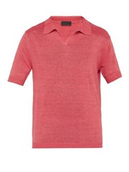 Iris Von Arnim Filip Linen Polo Top Pink