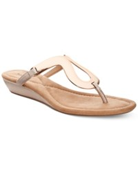Alfani Women's Farynn Wedge Sandals Only At Macy's Women's Shoes Rose Gold