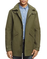 Brooks Brothers Laser Cut Hooded Jacket Ivy Green