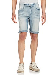Buffalo David Bitton Faded Denim Shorts Classic Sanded
