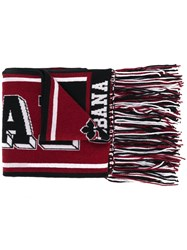 Dolce And Gabbana Printed Knit Scarf Black