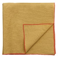 Linen Napkin Celery And Coral