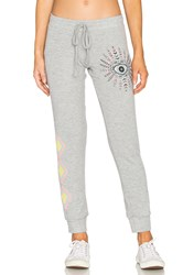 Lauren Moshi Kizzy Cuffed Sweatpant Grey