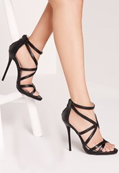 Missguided Strappy Heeled Gladiator Sandals Black Black