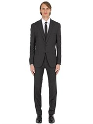 Hugo Boss Slim Fit Micro Checked Wool Suit