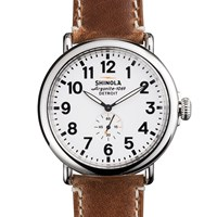 Shinola Runwell 47Mm Watch Brown
