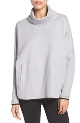 The North Face Women's 'Slacker' Turtleneck Poncho Tnf Light Grey Heather