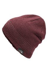 The North Face Men's 'Night Light' Beanie Red Deep Garnet Red Heather