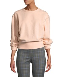 Rag And Bone Brushed Inside Out Terry Sweatshirt Light Pink