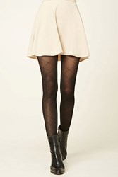 Forever 21 Diamond Pattern Knit Tights