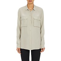 Atm Anthony Thomas Melillo Women's Reverse Charmeuse Blouse Light Green Tan Light Green Tan