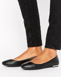 Call It Spring Fibocchi Metal Heel Ballet Flat Shoes Black
