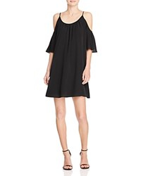 French Connection Polly Plains Cold Shoulder Dress Black