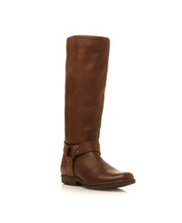 Steve Madden Holden Stirrup Long Boots Brown