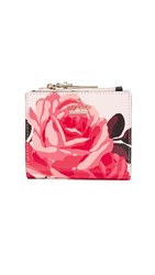 Kate Spade Roses Small Zip Wallet Pink Sand Multi