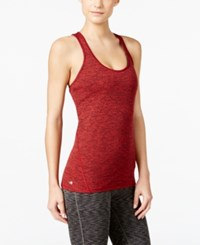 Ideology Rapidry Heathered Racerback Tank Top Only At Macy's Real Red