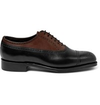 Grenson Foot The Coacher Leather Brogues Black