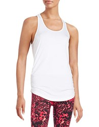New Balance Ruched Racerback Tank White