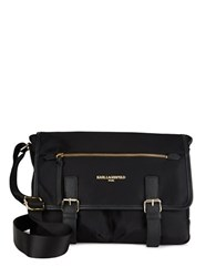 Karl Lagerfeld Nylon Messenger Bag Black