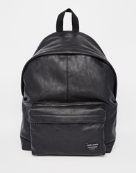 Jack And Jones Jack And Jones Backpack In Faux Leather Black