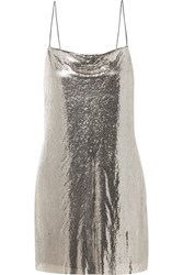 Alice Olivia Harmony Chainmail Mini Dress Silver