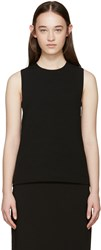 Edit Black Crepe Bandeau Tank Top