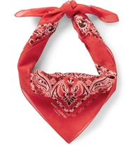 Saint Laurent Printed Cotton Bandana Red