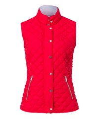 Olsen Quilted Gilet Red