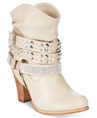 Mojo Moxy Dolce By Bundles Western Booties Women's Shoes Ivory