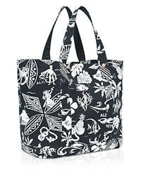 Polo Ralph Lauren Hawaiian Print Canvas Tote