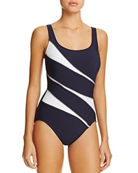 Miraclesuit Sports Page Helix One Piece Swimsuit Midnight Blue
